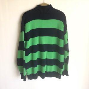 Ralph Lauren Sweaters - Lauren Ralph Lauren Logo Size M Stripes Navy Green